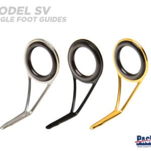 Pac Bay Single Foot Guides with Ceramic Rings Model SV